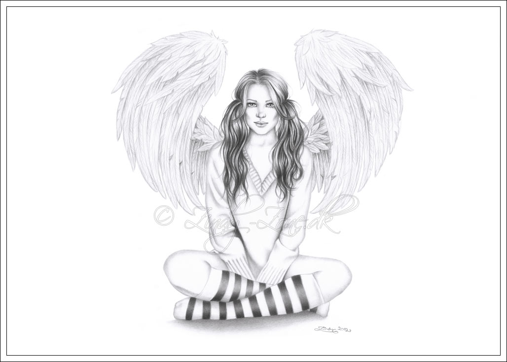 Angel Drawings Sketches
