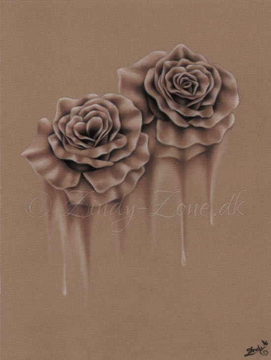 Melting Roses Original Drawing