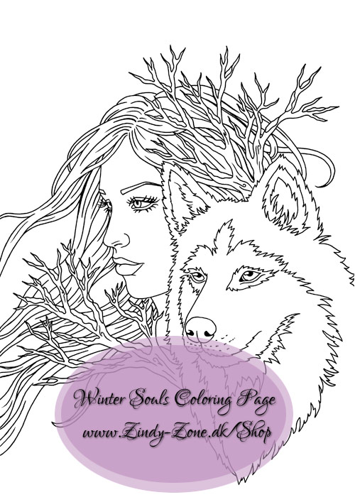 Winter Souls Coloring Page